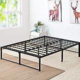 VECELO 14 Inch Platform Bed Frame/Mattress Foundation/No No Box Spring Needed/Steel Slat Support (Queen Size), Black