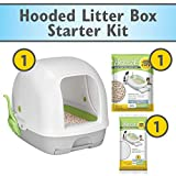 Purina Tidy Cats Hooded Litter Box System, BREEZE Hooded System Starter Kit Litter Box, Litter Pellets & Pads