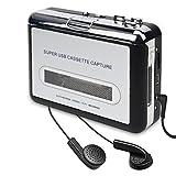 DIGITNOW Cassette Player-Cassette Tape To MP3 CD Converter Via USB,Portable Cassette Tape Converter Captures MP3 Audio Music,Convert Walkman Tape Cassette To MP3 Format, Compatible With Laptop and PC
