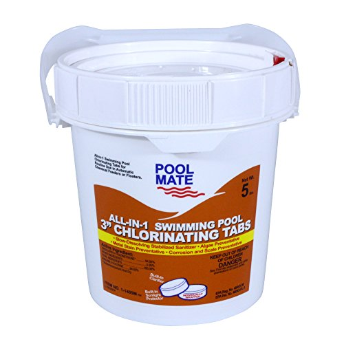 Pool Mate 1-1405M All-in-1 Swimming Pool 3-Inch Chlorinating Tablets, 5-Pound