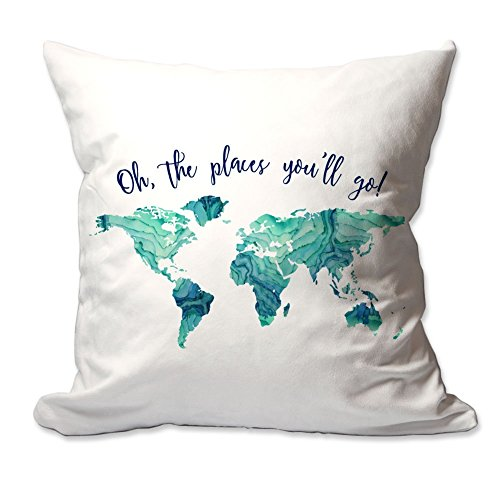 Oh, The Places You'll Go! Throw pillow Cover