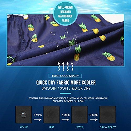 MaaMgic Costume da Bagno Uomo con Retina Traspirabile Tasche Laterali Tessuto Premium Comodo Leggero Asciugatura Rapida…