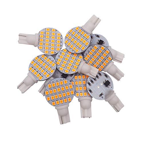 GRV T10 192 194 921 24-2835SMD LED Bulb lamp Super Bright Warm White DC 12V Pack of 10