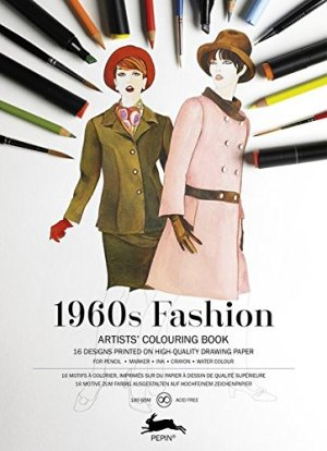 1960s Fashion: Artist's Colouring Book (Multilingual Edition)