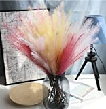 Skyseen 8PCS Artificial Feather Grass Plant Bush Fake Flower Maomao Grass for Wedding Party Home Decor(Mixed Colour)