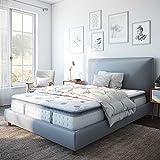 Classic Brands Mercer Pillow Top Cool Gel Memory Foam and Innerspring Hybrid 12' Mattress, Queen, White