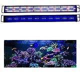 KZKR Upgraded Aquarium Light LED Full Spectrum 48'-60' Hood Lamp for Freshwater Marine Plant Multi-Color Decorations Light 120cm - 150cm