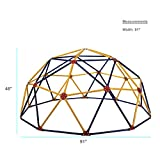 Easy Outdoor Space Dome Climber - Rust and UV Resistant Steel - 1000lb. Capacity - For Kids Ages 3 to 9