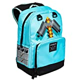JINX Minecraft Pickaxe Adventure Kids School Backpack, Blue, 17'