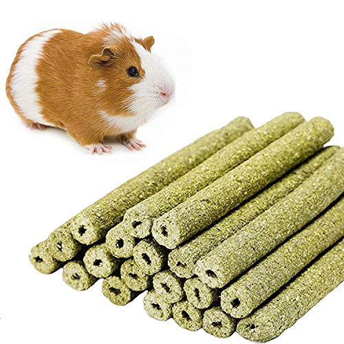 William Craft Timothy Hay Sticks for Guinea Pig Chinchillas Pet Snacks Chew Treats for Rabbit Hamsters Squirrel and Other Small Animals 20 Sticks 1