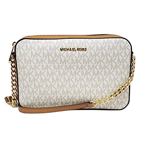Michael Kors Jet Set Item Large Crossbody Vanilla/Acrn (35F8GTTC3B)