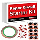 Paper Circuits Kit w/Project Book PDF (10 Student Makerspace Pack) – Includes Project Book Download, Copper Tape, LEDs and Coin Cell Batteries.