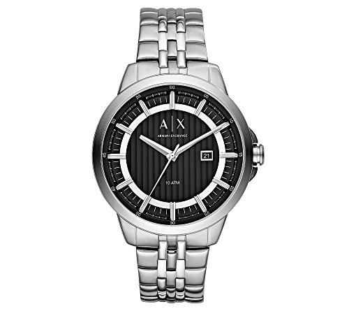 51mUQB7w39L Featured in silvertone/black Case Size: 44mm Case Thickness: 13mm