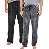 Nautica Men's Fleece Pajama Pants 2 Pack (XXXL, Red)