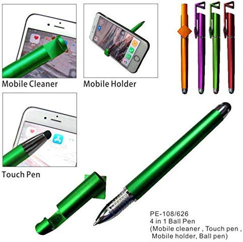 ASU 1 Multi-Function Touch Screens Stylus Gel Ink Pen Capacitive Holder Stand Touch Screen Pens for iPad Mobile Smart Phone Office School Writing... 1