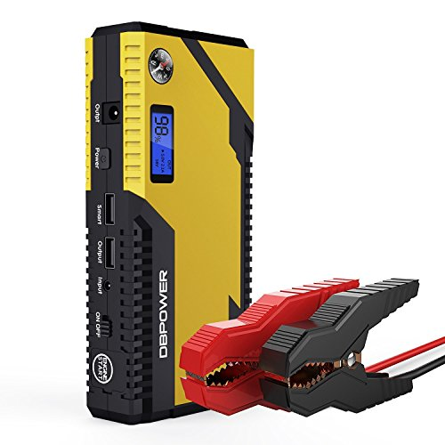 DBPOWER 500A Peak 12000mAh Portable Car Jump Starter Auto Battery Booster, Portable Phone Charger, Smart Charging Port, Compass & LCD Screen & LED Flashlight, Engines up to 3L Gas and 2.5L Diesel
