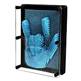 AMTOP Classic 3D Clone Pin Art Board Novelty Toy Pin Point Impression Art Sculpture Pin Model, Home Office Desktop Toys for Kids Children Adults, Large Size, Blue