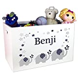 Product review for Personalized Boys Navy Toy Box