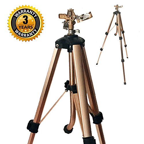 Brass Impact Tripod Sprinkler with Heavy Duty Brass Impact Sprinkler (25-48