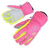 AMYIPO Kids Winter Snow Ski Gloves Children Snowboard Gloves for Boys Girls (Pink-3, 6-7 Years)