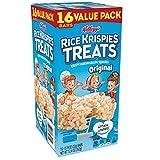 Kelloggs Rice Krispies Treats, Crispy Marshmallow Squares, Original, Value Pack, 0.78 oz Bars(16 Count)