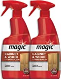 Magic Wood Furniture Cleaner and Polish - 24 Ounce (2 Pack) - Restore Wood Doors Tables Chairs and Cabinets