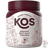 KOS Organic Beet Root Powder | Natural Nitric Oxide Boosting Beet Root Powder | USDA Organic, Stamina Increasing, Circulation Superfood Plant Based Ingredient, 360g, 90 Servings