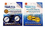 HOOK-EZE 2 x Twin Packs 1 x New Larger Model Reef & Blue Water + 1 x Original River & Coast Safe Fishing Hook Cover & Knot Tying Tool (Lg Blue + Yellow)