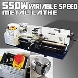 550W Mini Precision Mini Metal Lathe 2500RPM Variable 7 x 14 Speed 3/4HP