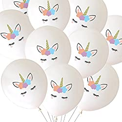 LUCK COLLECTION Unicorn Balloons Party Decorations 30 Packs White
