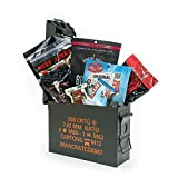 Man Crates Premium Jerky Ammo Can - The Ultimate Gift for Meat Lovers - Includes 3 Beef Jerky Flavors, Gourmet Almonds, Corn Nuggets And More - Ships In A Glorious, Steel Ammo Can He'll Love