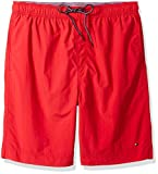 Tommy Hilfiger Men's Big and Tall Swim Trunks, Apple RED, TL-L