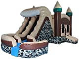 Commercial Grade 29 Foot Camo Hideout Helix Wet/Dry Combo Bounce House Inflatable