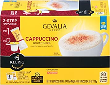 Gevalia Cappuccino K-Cup Packs and Froth Packets, 6 Count