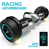 Gyroor G-F1 Hoverboard,8.5' Off Road Hover Board with Bluetooth Speaker&LED Lights,Fastest Racing Self Balancing Scooter with App for Kids and Adult,UL2272 Certified(Silver)