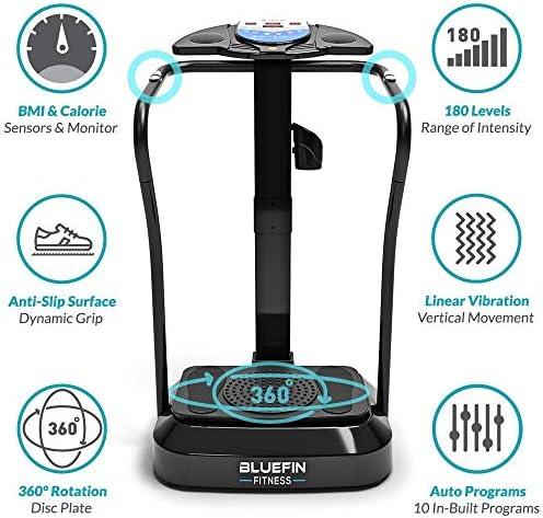 Bluefin Fitness Vibration Platform | Pro Model | Upgraded Design with Silent Motors and Built in Speakers 5