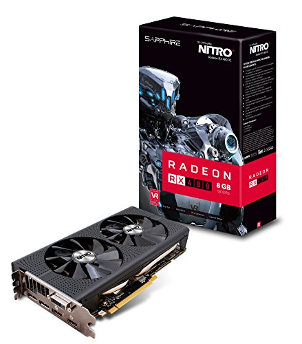 Sapphire Radeon NITRO+ Rx 480 8GB GDDR5 Dual HDMI / DVI-D / Dual DP OC w/ backplate (UEFI) PCI-E Graphics Card Graphics Cards 11260-01-20G