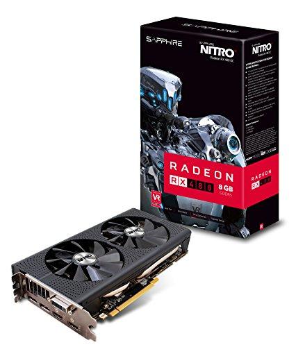 Sapphire Radeon NITRO+ Rx 480 8GB GDDR5 256 bit PCI Express 3.0 x16 Graphics Card (11260-01-20G)