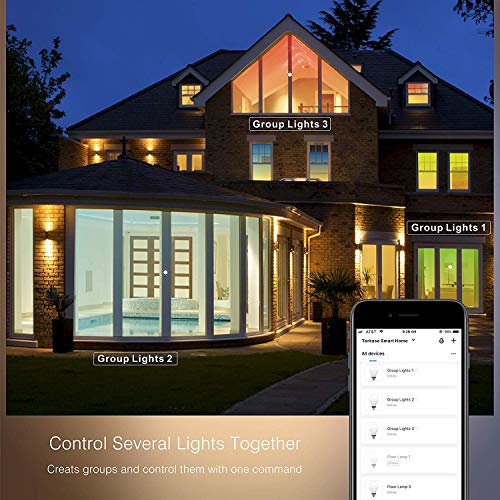WiFi-Smart-LED-Multi-Color-Light-Bulb-Compatible-with-Alexa-Echo-Google-Home-and-IFTTT-No-Hub-Required-Color-Changing-Bulb-with-App-Control-4-Pack