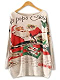 Product review for Persun Women's Cute Girl Christmas Tree Print Knit Sweatshirt Festival Tunic