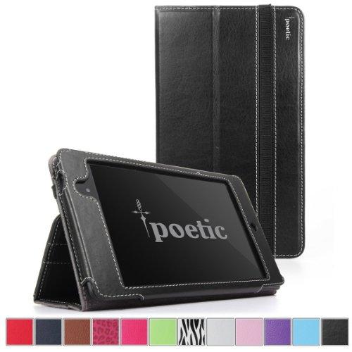 Google Nexus 7 2013 Case - Poetic Google Nexus 7 2013 Case [SlimBook Series] - [SlimFit] [Professional] PU Leather Slim Folio Case for Google Nexus 7 2nd Gen 2013 Black (3 Year Manufacturer Warranty From Poetic)