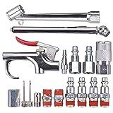 WYNNsky Air Tool And Accessory Kit,1/4' NPT 17 Piece Air Compressor Accessories w/Blow Gun/Tire Gauge/Storage Case