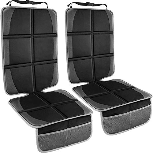Car Seat Protector,(2 Pack) Large Auto Car Seat Protectors for Child Baby Car Seat,Thick Safety Padding Carseat Kick Mat