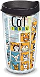 Tervis 1090080 Cat Periodic Table Insulated Tumbler with Wrap and Black Lid, 16oz, Clear
