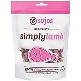 Sojos Simply Raw Freeze Dried Grain Free Dog Treats, Lamb, 4-Ounce Bag