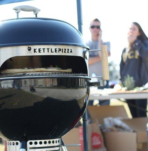 Basic KettlePizza Outdoor Pizza Oven Kit for Weber Kettle Grills - Bonus Woodfired Oven Cookbook