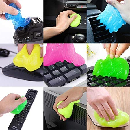 LAZI Multipurpose Car AC vent Interior Dust Cleaning Gel Jelly Detailing Putty Cleaner Kit