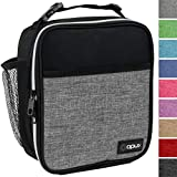 OPUX Premium Insulated Mini Lunch Bag for School | Work Lunch Box for Adult Men, Women | Soft Reusable Cooler Bag with Leakproof Liner | Compact Lunch Pail for Office (Heather Grey)