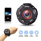 ATHORS Mini Sport Camera Wireless,Portable Waterproof Spy Camera,1080P Cams with Cell Phone App Luminous Shooting for Home Indoor Outdoor Riding Hiking Camping Surfing
