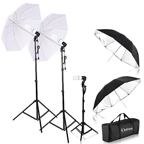 Kshioe 2x3m/6.5×9.8ft Photo Video Studio Adjustable Background Backdrop Support System Stand with Carry Bag